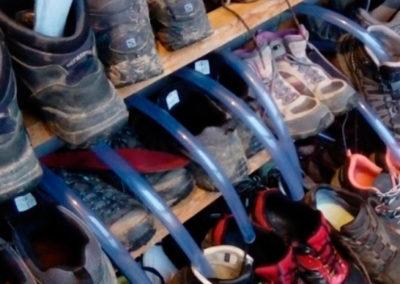 secador zapatos para peregrinos